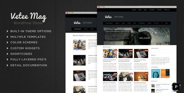 Vetee Magazine WordPress Theme - Blog / Magazine WordPress