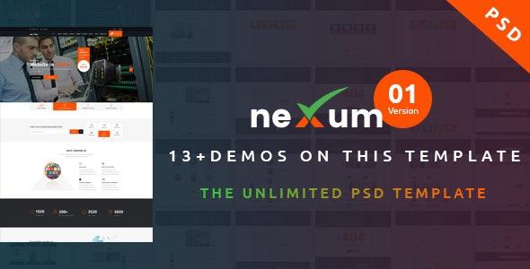 neXum Host - Hosting and Domain PSD Template - Hosting Technology
