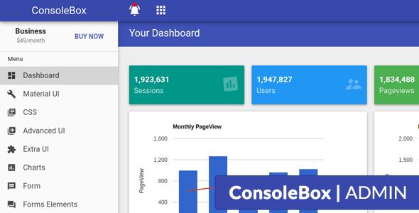 ConsoleBox - Angular Js Material Admin Template