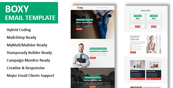 Boxy - Multipurpose Responsive Email Template With Online StampReady Builder Access - Newsletters Email Templates