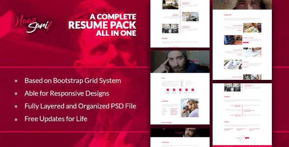 Naaz Sarif - Resume Pack - Personal Photoshop