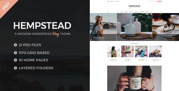 Hempstead - An Elegant And Modern Blog PSD Template - Miscellaneous Photoshop