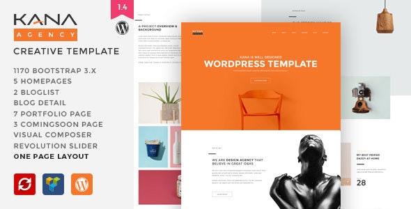 Kana - Creative Agency WordPress Theme - Creative WordPress