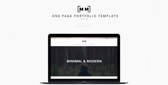 M M Minimal Creative Responsive Portfolio By Andrewchs