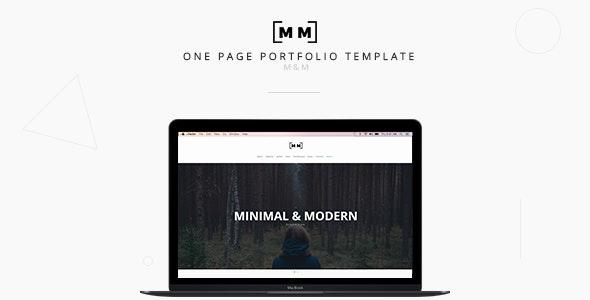 M&M -- Minimal & Creative Responsive Portfolio - Portfolio Creative