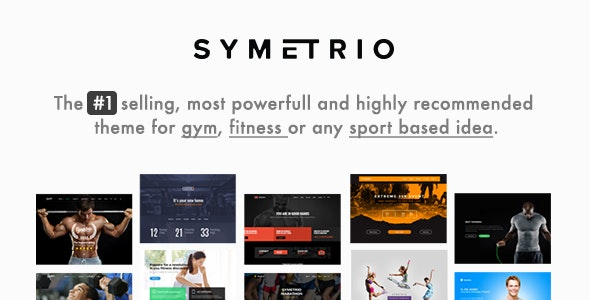 Symetrio – Gym & Fitness WordPress Theme
