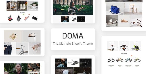 Doma - Ultimate Multi Language Shopify Theme Section Ready - Fashion Shopify