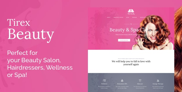 Tirex Beauty - WordPress Theme For Beauty Salons - Health & Beauty Retail
