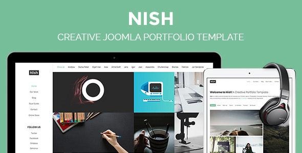 Nish - Creative Joomla Portfolio Template - Portfolio Creative