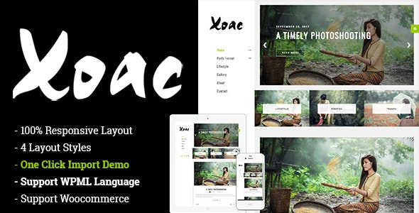 Xoac – Travel Blog WordPress Theme - Personal Blog / Magazine