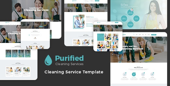 Purified - Cleaning Service Agency HTML Template - Business Corporate