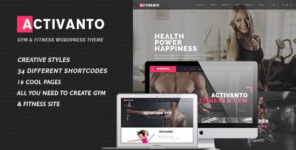 Gym | Fitness | Sport Club WordPress Activanto - Health & Beauty Retail