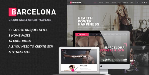 Barcelona - Fitness HTML Template