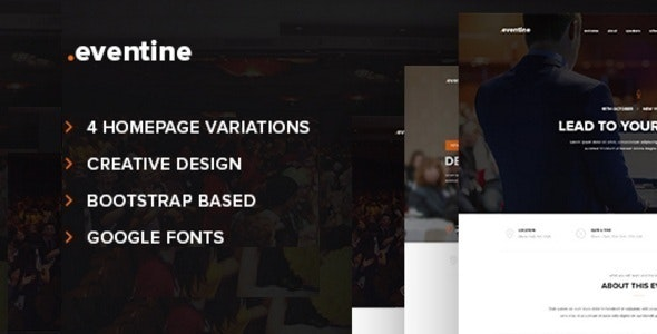 Eventine - Event HTML Template - Events Entertainment