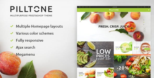 Pilltone - Fresh Food Responsive Prestashop Theme