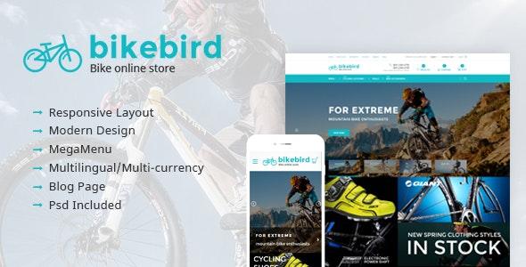 BikeBird - Responsive Bike Store Magento theme - Entertainment Magento