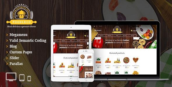Foodleco - Italian Food OpenCart theme - OpenCart eCommerce