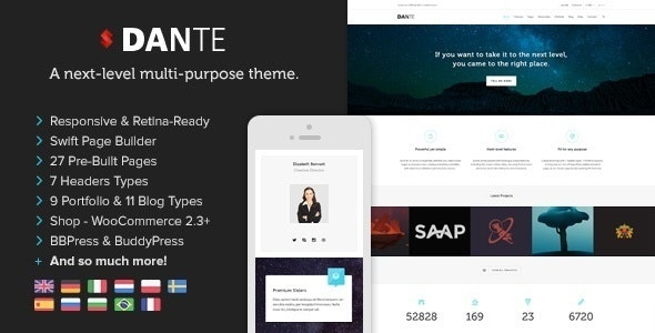 Dante – Responsive Multi-Purpose WordPress Theme