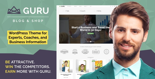 GuruBlog - Business Blog & Shop WordPress Theme for Experts - Business Corporate