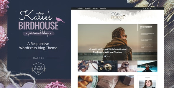 BirdHouse - A Responsive WordPress Blog Theme - Personal Blog / Magazine