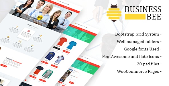 Business Bee PSD Template - Business Corporate