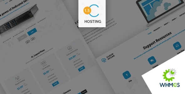 CloudOcean - Responsive Hosting HTML5 & WHMCS7 Template - Hosting Technology