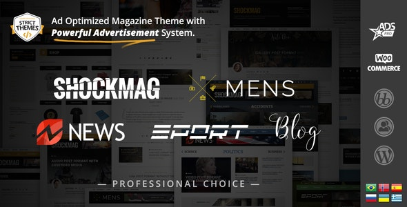 Shockmag - Ad Optimized Magazine WordPress Theme with Powerful Advertisement System - Blog / Magazine WordPress