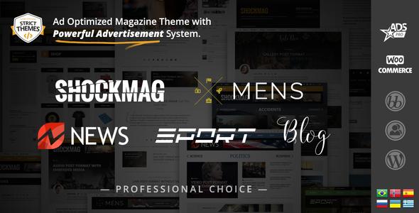 Shockmag - Ad Optimized Magazine WordPress Theme with Powerful Advertisement System - Blog / Magazine WordPress
