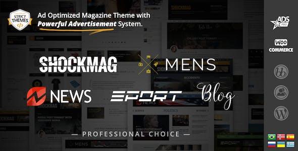 Shockmag - Ad Optimized Magazine WordPress Theme with Powerful Advertisement System
