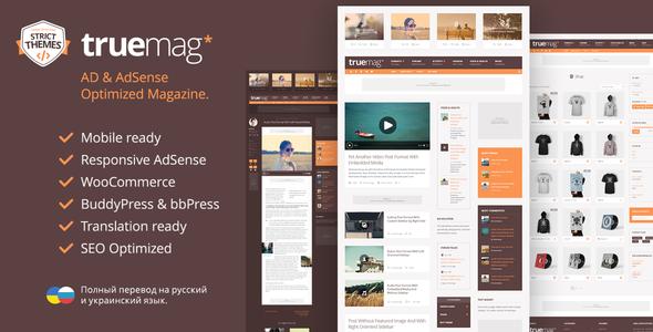 Truemag - AD & AdSense Optimized Magazine WordPress Theme - News / Editorial Blog / Magazine