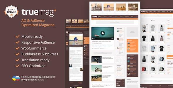 Truemag - AdSense WordPress Theme