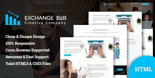 Exchange B2B    Creative Corporate Bootstrap Template - Business Corporate