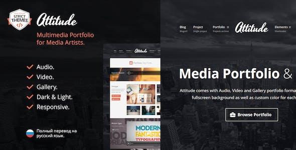 Attitude - Multimedia Portfolio WordPress Theme for Media Artists