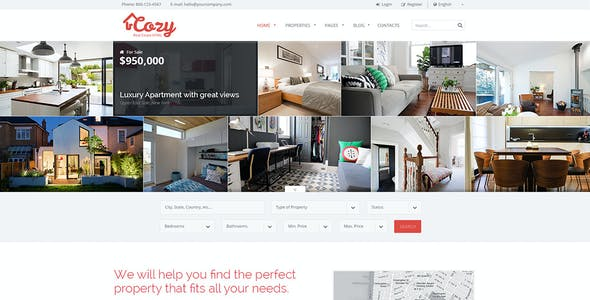 Cozy - Responsive Real Estate HTML Template
