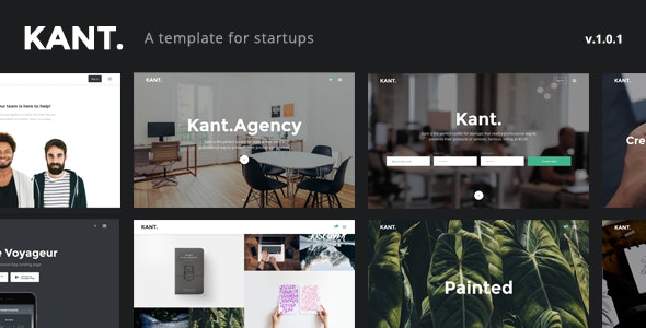Kant - A Multipurpose Template For Startups And Freelancers - Creative Site Templates