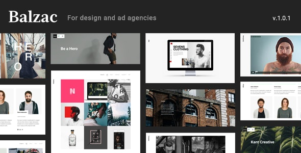 Balzac - An Ultra Creative HTML5 Template for Agencies - Creative Site Templates