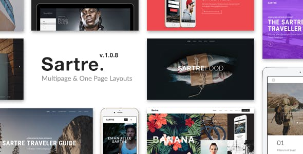 Sartre - Creative Multipurpose HTML Template by ThemeMountain