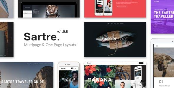 Sartre - Creative Multipurpose HTML Template