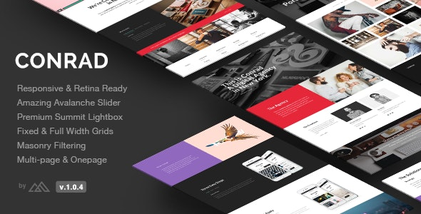 Conrad - Creative Multi-Purpose HTML Template - Portfolio Creative