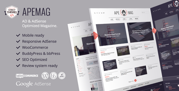 Apemag - Stylish WordPress Theme Magazine with Review System - News / Editorial Blog / Magazine