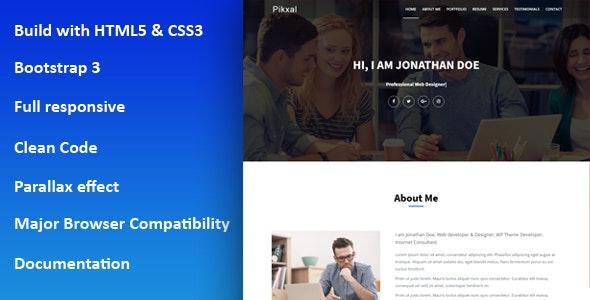 Pikxal - Personal Portfolio Template - Portfolio Creative