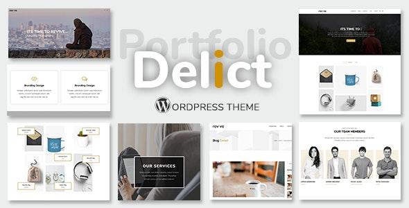 Delict - Minimal Agency & Portfolio Multipurpose WordPress Theme - Portfolio Creative