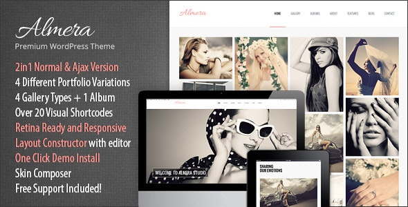 Almera | Model Agency & Photo Portfolio WordPress Theme - Portfolio Creative
