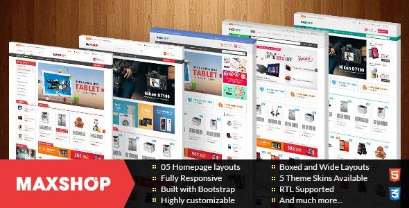Maxshop - Multipurpose Responsive Prestashop Theme - Shopping PrestaShop