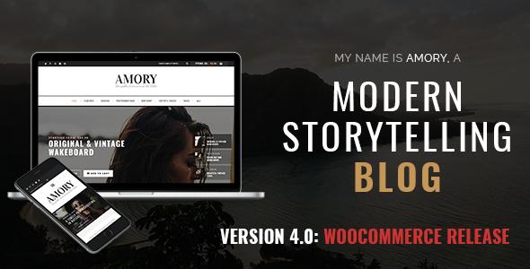Amory Blog - A Responsive WordPress Blog Theme - Personal Blog / Magazine