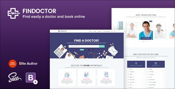 Findoctor - Doctors directory and Book Online template - Health & Beauty Retail