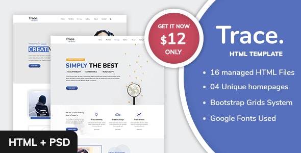 Trace - Business and Corporate Multipurpose HTML Template - Creative Site Templates