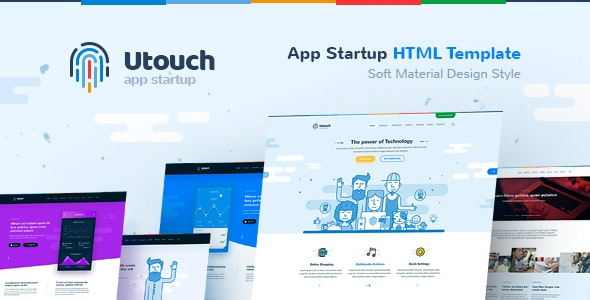 Utouch - HTML Template for IT Startup, Landing Page, Business, Education, Product, Events & Courses - Software Technology