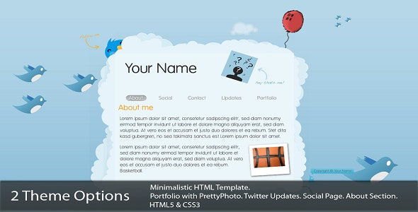 Cloud Template  - Creative Site Templates