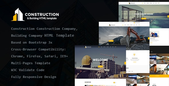 Construction - Construction Company, Building Company HTML Template - Site Templates